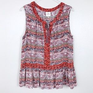 Knox Rose Boho Sleeveless Blouse